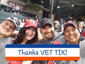 Ricky attended Arizona Diamondbacks vs. Pittsburgh Pirates - MLB on May 11th 2017 via VetTix