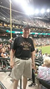 Ernest attended Arizona Diamondbacks vs. Pittsburgh Pirates - MLB on May 11th 2017 via VetTix