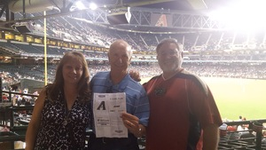 Bill attended Arizona Diamondbacks vs. Pittsburgh Pirates - MLB on May 11th 2017 via VetTix
