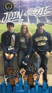 Angie attended Philadelphia Union vs. New Yorkcity FC - MLS on Apr 14th 2017 via VetTix