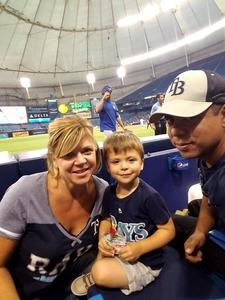Marvin attended Tampa Bay Rays vs. Kansas City Royals - MLB on May 9th 2017 via VetTix