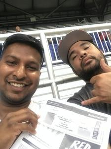 Shivanauth attended New York Red Bulls vs. Toronto FC - MLS on May 19th 2017 via VetTix