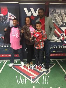 Click To Read More Feedback from Washington Valor vs. Tampa Bay Storm - AFL