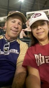 Paul attended Arizona Diamondbacks vs. Milwaukee Brewers - MLB on Jun 10th 2017 via VetTix