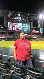 Alvina attended Arizona Diamondbacks vs. Milwaukee Brewers - MLB on Jun 10th 2017 via VetTix