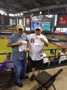 Barry attended Arizona Diamondbacks vs. Philadelphia Phillies - MLB on Jun 25th 2017 via VetTix