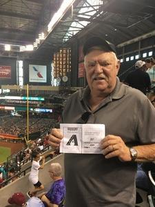 Leslie attended Arizona Diamondbacks vs. Philadelphia Phillies - MLB on Jun 25th 2017 via VetTix