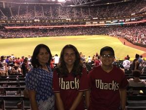 Maros attended Arizona Diamondbacks vs. Washington Nationals - MLB on Jul 21st 2017 via VetTix