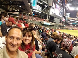 Mark attended Arizona Diamondbacks vs. Washington Nationals - MLB on Jul 21st 2017 via VetTix