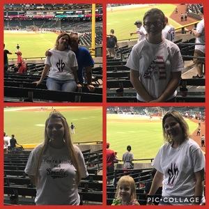 Anthony attended Arizona Diamondbacks vs. Atlanta Braves - MLB on Jul 24th 2017 via VetTix