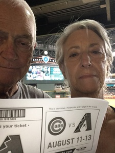 Kenneth attended Arizona Diamondbacks vs. Houston Astros - MLB on Aug 14th 2017 via VetTix
