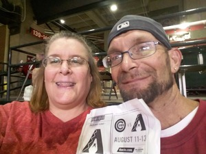 Amelia attended Arizona Diamondbacks vs. Houston Astros - MLB on Aug 14th 2017 via VetTix