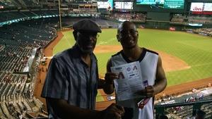 Vernon attended Arizona Diamondbacks vs. Los Angeles Dodgers - MLB on Aug 31st 2017 via VetTix