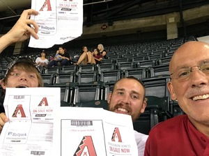 Gregory Drew attended Arizona Diamondbacks vs. Colorado Rockies - MLB on Sep 12th 2017 via VetTix