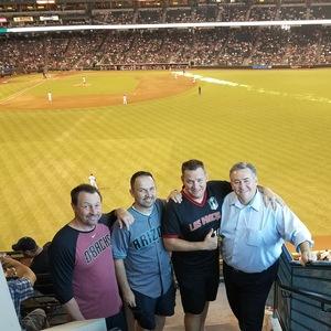 Kip attended Arizona Diamondbacks vs. San Francisco Giants - MLB on Sep 27th 2017 via VetTix
