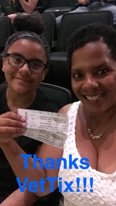 Nicolette attended Earth, Wind and Fire and Chic Ft. Nile Rodgers: 2054 the Tour on Jul 27th 2017 via VetTix
