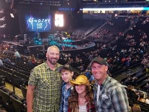 Eric attended Brad Paisley With Special Guest Dustin Lynch, Chase Bryant, and Lindsay Ell on Jul 15th 2017 via VetTix