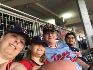 James attended Minnesota Twins vs. Texas Rangers - MLB on Aug 5th 2017 via VetTix
