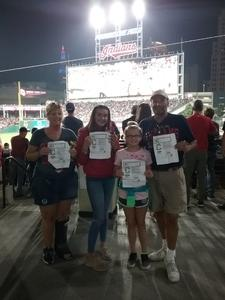 Dave attended Cleveland Indians vs. Colorado Rockies - MLB on Aug 8th 2017 via VetTix