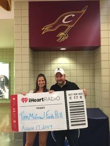James attended Soul2Soul Tour With Tim McGraw and Faith Hill on Aug 17th 2017 via VetTix