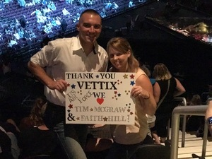 Charles attended Soul2Soul Tour With Tim McGraw and Faith Hill on Aug 17th 2017 via VetTix