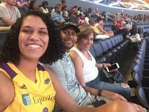 Frances attended Los Angeles Sparks vs. Minnesota Lynx - WNBA on Aug 27th 2017 via VetTix