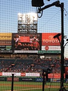 Bronson attended Los Angeles Angels vs. Philadelphia Phillies - MLB on Aug 3rd 2017 via VetTix