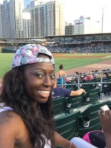 Yolanda attended Charlotte Knights vs. Toledo Mud Hens - MiLB on Aug 16th 2017 via VetTix