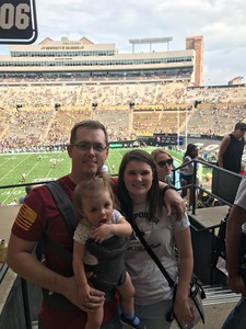 Stephen attended Colorado Buffaloes vs. Texas State - NCAA Football on Sep 9th 2017 via VetTix