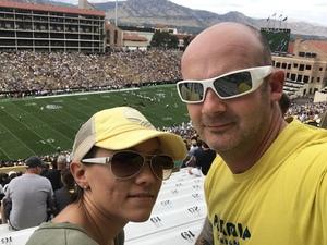 Mike attended Colorado Buffaloes vs. Texas State - NCAA Football on Sep 9th 2017 via VetTix