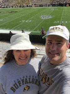 Kristina attended Colorado Buffaloes vs. Texas State - NCAA Football on Sep 9th 2017 via VetTix