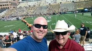 ERIC attended Colorado Buffaloes vs. Texas State - NCAA Football on Sep 9th 2017 via VetTix