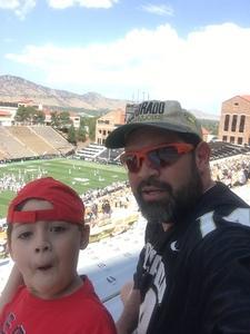 Ernest attended Colorado Buffaloes vs. Texas State - NCAA Football on Sep 9th 2017 via VetTix