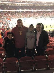 Samuel attended Pac-12 Football Championship - Stanford Cardinal vs. Southern California Trojans on Dec 1st 2017 via VetTix