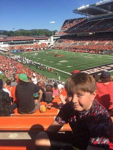 Carlene attended Oregon State Beavers vs. Portland State - NCAA Football on Sep 2nd 2017 via VetTix
