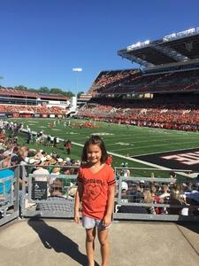 Erica attended Oregon State Beavers vs. Portland State - NCAA Football on Sep 2nd 2017 via VetTix