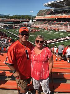 Thomas & Patricia attended Oregon State Beavers vs. Portland State - NCAA Football on Sep 2nd 2017 via VetTix