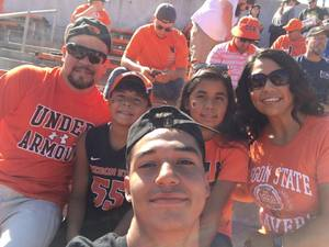Anthony attended Oregon State Beavers vs. Portland State - NCAA Football on Sep 2nd 2017 via VetTix