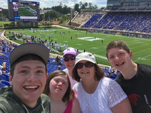 Phil attended Duke University Blue Devils vs. Northwestern - NCAA Football on Sep 9th 2017 via VetTix