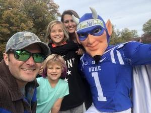 Brandon attended Duke University Blue Devils vs. Georgia Tech - NCAA Football on Nov 18th 2017 via VetTix