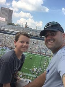 Walter attended Georgia Tech Yellow Jackets vs. Pittsburgh - NCAA Football on Sep 23rd 2017 via VetTix