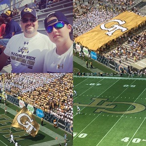 Gregory attended Georgia Tech Yellow Jackets vs. Pittsburgh - NCAA Football on Sep 23rd 2017 via VetTix
