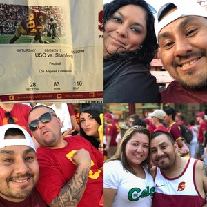 David attended University of Southern California Trojans vs. Stanford - NCAA Football on Sep 9th 2017 via VetTix