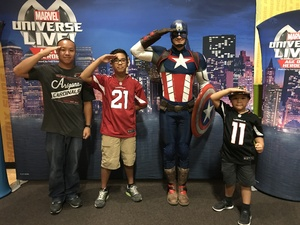 Johnny attended Marvel Universe Live! Age of Heroes - Show Tickets + Captain America Meet & Greet on Sep 8th 2017 via VetTix