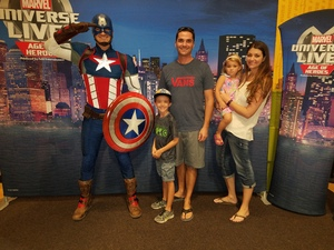 Troy attended Marvel Universe Live! Age of Heroes - Show Tickets + Captain America Meet & Greet on Sep 8th 2017 via VetTix