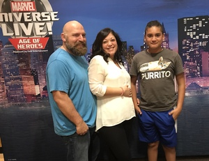 Teresa attended Marvel Universe Live! Age of Heroes - Show Tickets + Captain America Meet & Greet on Sep 8th 2017 via VetTix