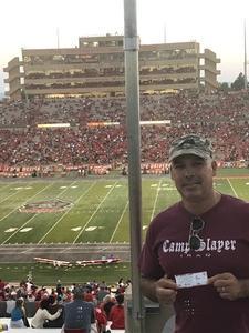 Rudy attended University of New Mexico Lobos vs. Abilene Christian - NCAA Football on Sep 2nd 2017 via VetTix