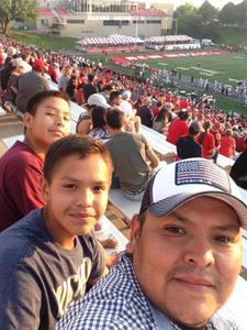 Alex attended University of New Mexico Lobos vs. Abilene Christian - NCAA Football on Sep 2nd 2017 via VetTix