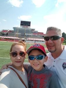 Leroy attended University of New Mexico Lobos vs. Abilene Christian - NCAA Football on Sep 2nd 2017 via VetTix