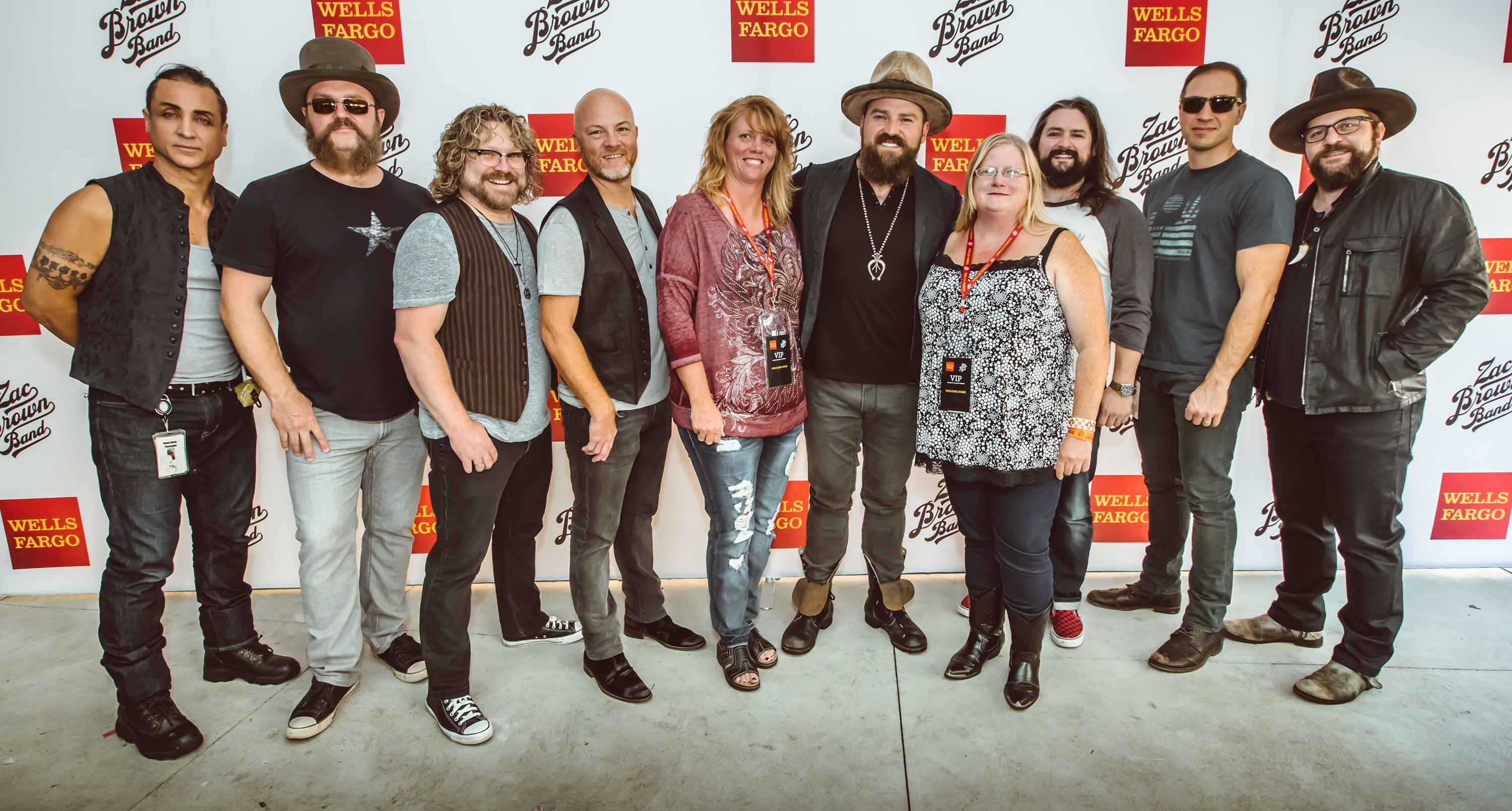 Thank you messages to veteran tickets foundation donors shannon attended zac brown band with special guest darrell scott vip experience on aug 25th m4hsunfo